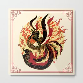 Year of the Fire Rooster Metal Print