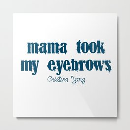 Eyebrows Metal Print