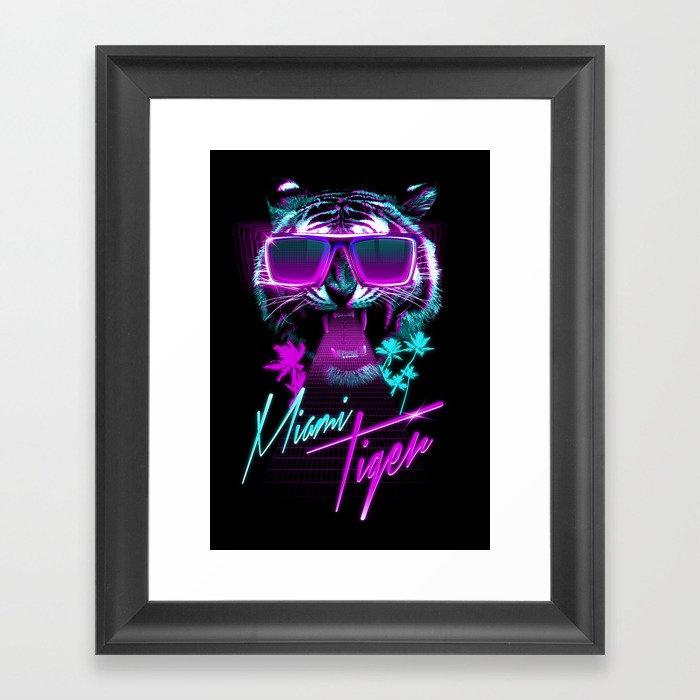 Miami Tiger Framed Art Print
