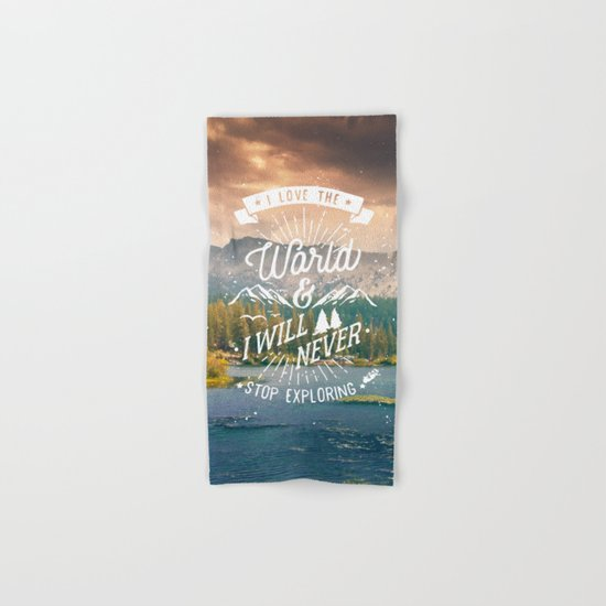Inspirational Quote and Mountains III Hand & Bath Towel