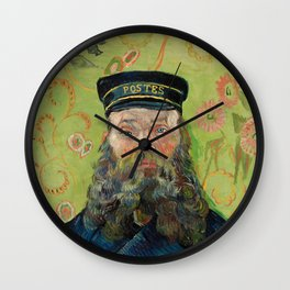 The Postman, Joseph Roulin, by Vincent van Gogh, 1889 Wall Clock