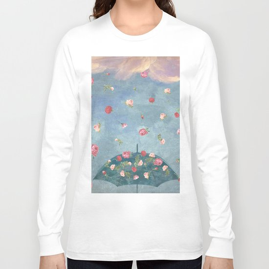 I Wished for a Rose Rain for You Long Sleeve T-shirt