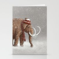 sad Stationery Cards featuring The Ice Age Sucked by Terry Fan