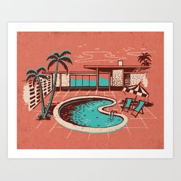 PALM SPRINGS POOL Art Print