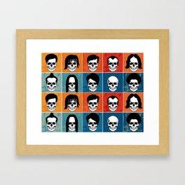 Hairstyles for Skulls Framed Art Print
