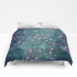 SAKURA LOVE  GRUNGE TEAL Comforters