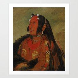 George Catlin - Wi-jún-jon, Pigeon's Egg Head (The Light) Art Print