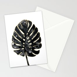 Black and gold Monstera Stationery Cards
