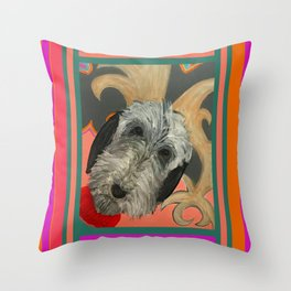 That Dog in color block Throw Pillow