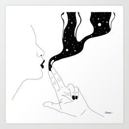 Magic gun trick Art Print