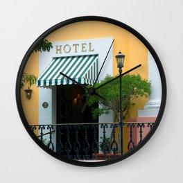Yellow hotel Wall Clock