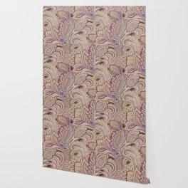 paisley warm Wallpaper