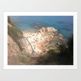 Lloret de Mar beach - Catalunya - Spain Art Print