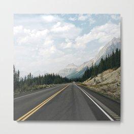 Road to Jasper Park Metal Print