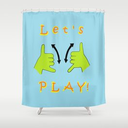 ASL Let's PLAY! Shower Curtain