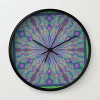 grateful dead Wall Clocks featuring Grateful by gretzky