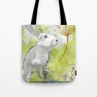 rabbit Tote Bags featuring Rabbit by Melissa McGill