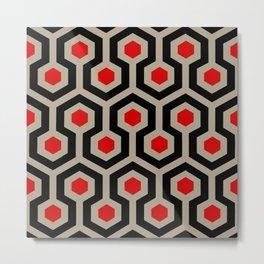 SPHEX CUBES GEO | grey red Metal Print