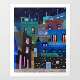 El Risco de Noche Art Print