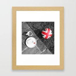 British Sunday - Still Life | Selective Red Framed Art Print
