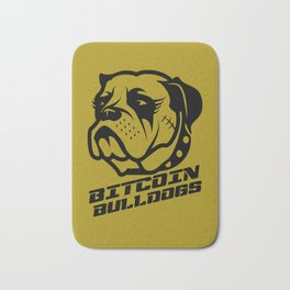 Bitcoin Bulldogs Bath Mat