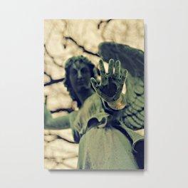 Angel Brush Knee and Palm Metal Print