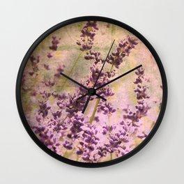 Lavendel Wall Clock