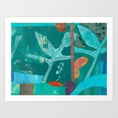 Turquoise Repeat Art Print