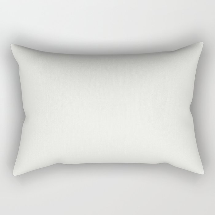 Sherwin Williams Trending Colors of 2019 Extra White SW 7006 Solid Color Rectangular Pillow