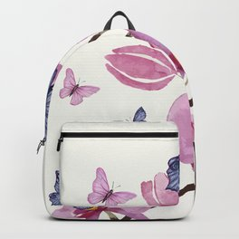 Flowers and butterflies Backpack
