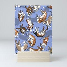 Raining Basset Hounds Mini Art Print