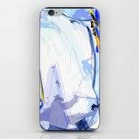 skiing iPhone & iPod Skins featuring Downhill Skiing by Robin Curtiss