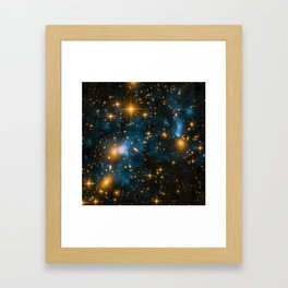 Cosmos 2, when stars collide (enhanced) Framed Art Print