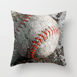 Baseball art Throw Pillow