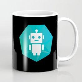 Robot Badge on Black Coffee Mug