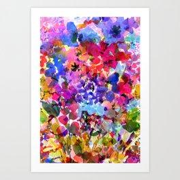 Jelly Bean Wildflowers Art Print