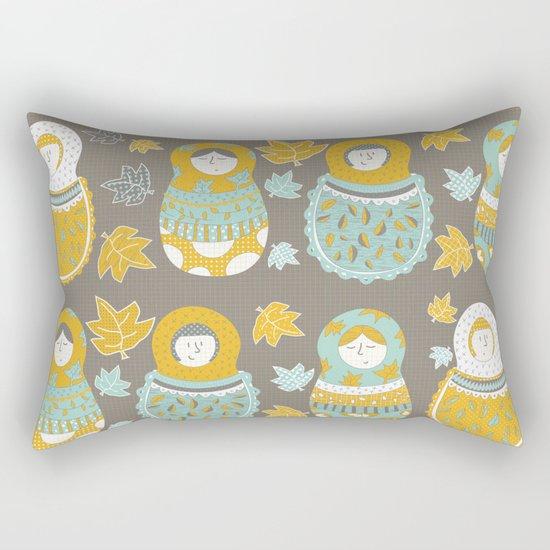 Autumnish mamushkas Rectangular Pillow