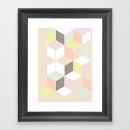 pastel cubes  Framed Art Print