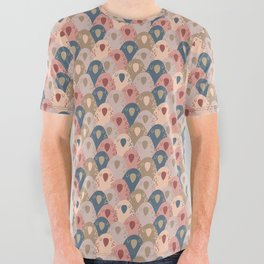 Ovopornis - beige All Over Graphic Tee