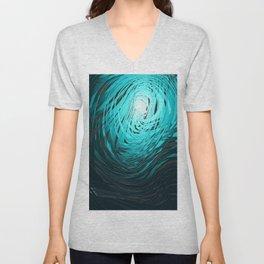 Complex Spiral Aqua Unisex V-Neck