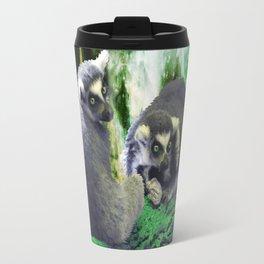 Lemurs on the Emerald Green Knolls Travel Mug