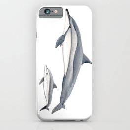 Long-beaked dolphin and baby iPhone Case
