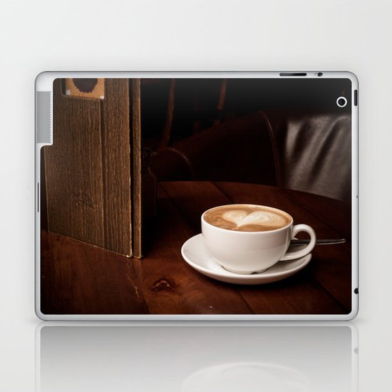 coffee with heart Laptop & iPad Skin