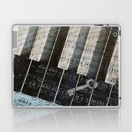 Piano Keys black and white - music notes Laptop & iPad Skin