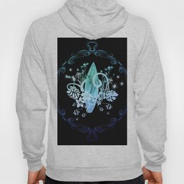 Surfing, tropical design with surfboard and flowers Hoody