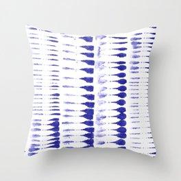 Shibori strokes Throw Pillow