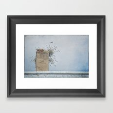Chimney Pots and Cloudy Skies Framed Art Print