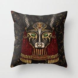 Bastet Egyptian Goddess Throw Pillow