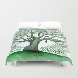 Cheri Whimsical Cats in Tree Duvet Cover