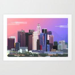 Los Angeles in Purple Art Print